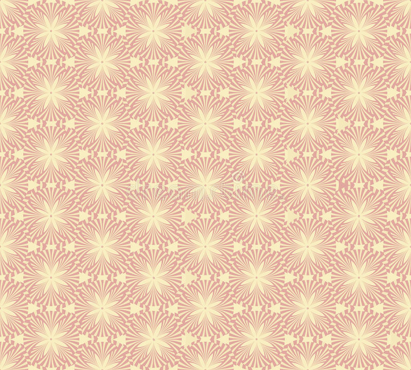Download Seamless Vector Pattern With Beige Floral Theme Stock Vector - Image: 26133095
