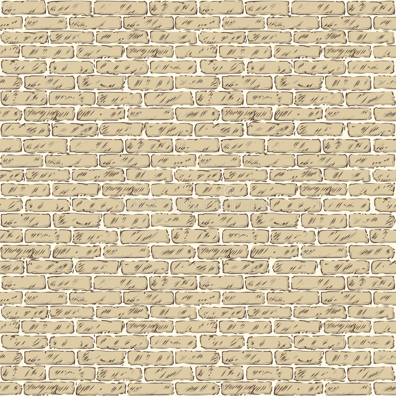 Seamless Vector Pattern with Brick Wall stock photography