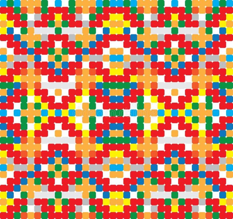 Seamless vector pattern - cross-stitch style royalty free illustration