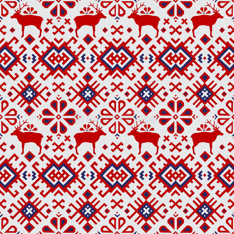 Seamless vector pattern with deers stock illustration