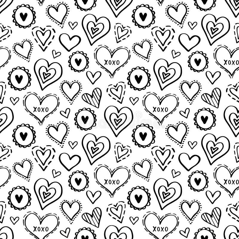 Hearts Pattern Love New-01 royalty free illustration