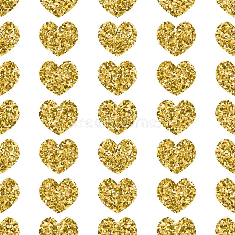 Seamless vector pattern with gold element. Seamless vector pattern with gold vector element royalty free stock images