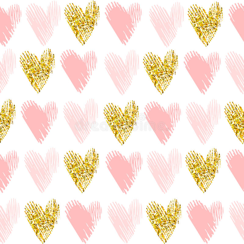 Seamless vector pattern with gold glitter vector illustration