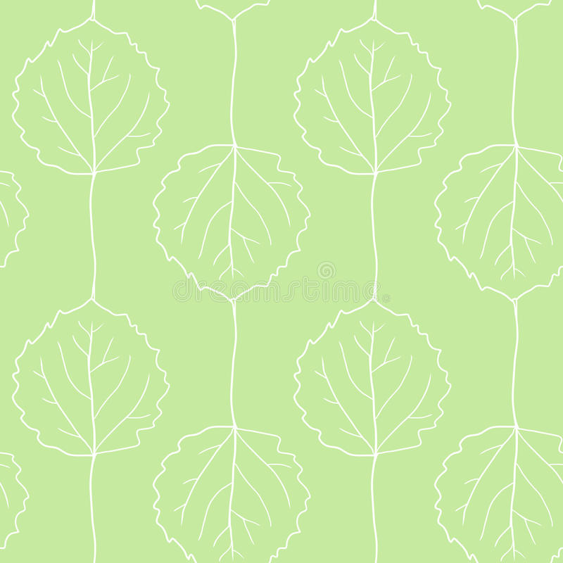 Download Seamless Vector Pattern With Leaves Of Aspen Stock Vector - Illustration: 38013879
