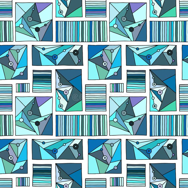 Seamless vector pattern, lined geometric background with rhombus, triangles, lines. Print for decor, wallpaper, packaging, vector illustration
