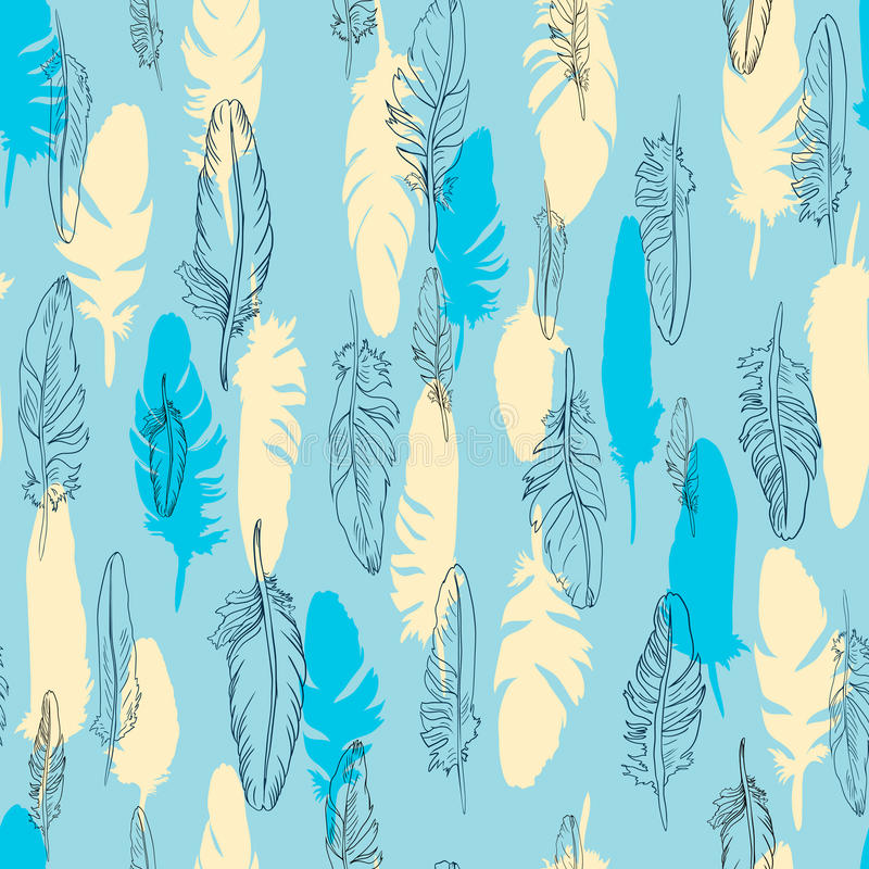 Download Seamless Vector Pattern Of Plume Stock Vector - Image: 32790642