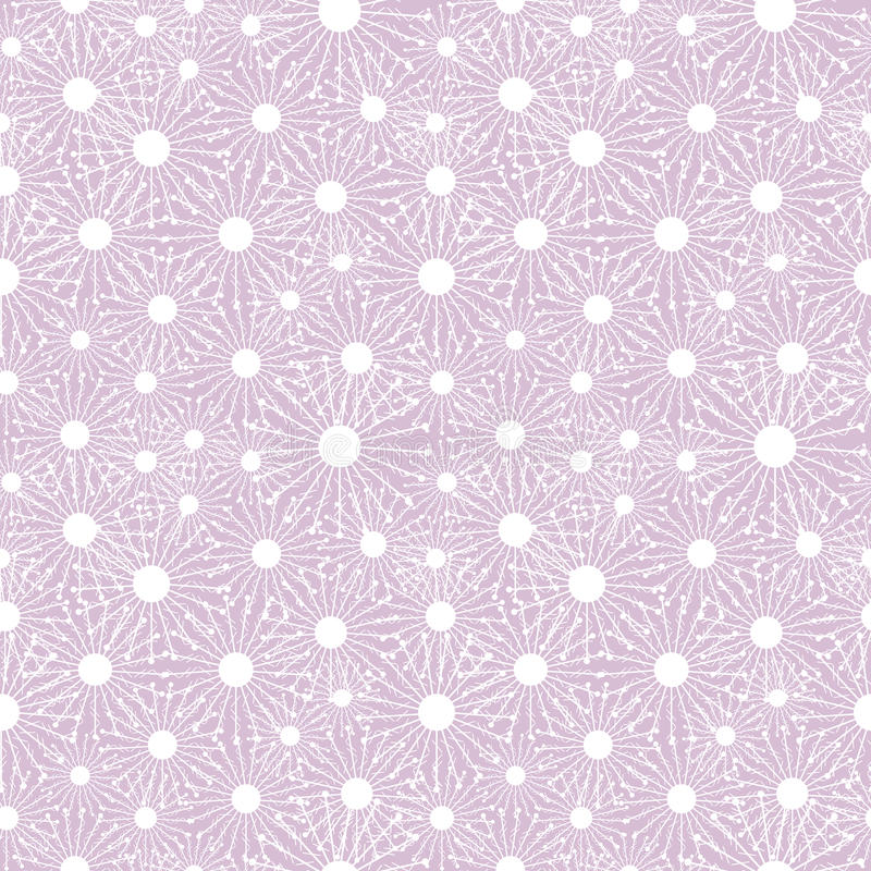 Seamless vector pattern. Seasonal winter light pink background with close-up white snowflakes vector illustration