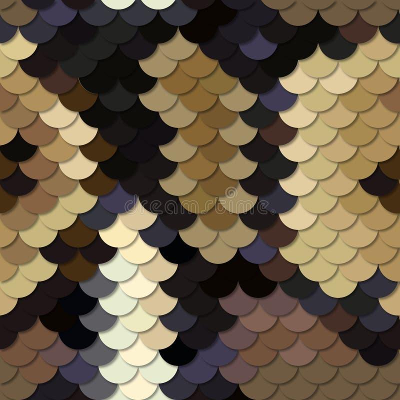 Skin of a snake Python. Seamless vector pattern. vector illustration