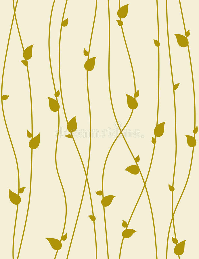 Seamless vector pattern with spring branches.