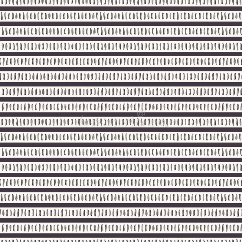 Seamless vector pattern stripes. Modern hand drawn broken horizontal lines. Trendy surface design textile all over print. Seamless vector pattern stripes. Modern royalty free illustration