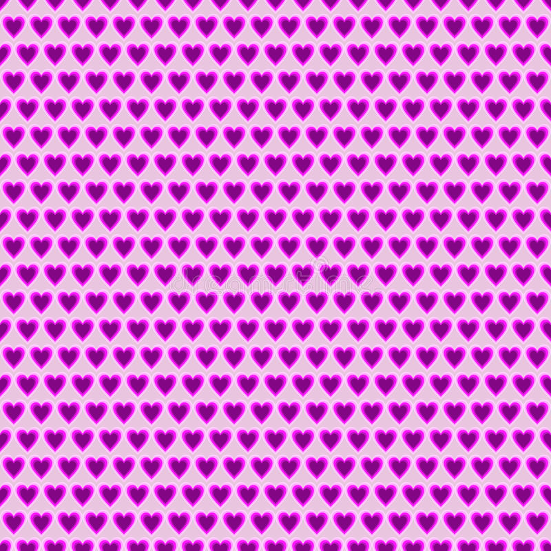 Seamless vector pattern. Symmetrical background with little pink hearts vector illustration