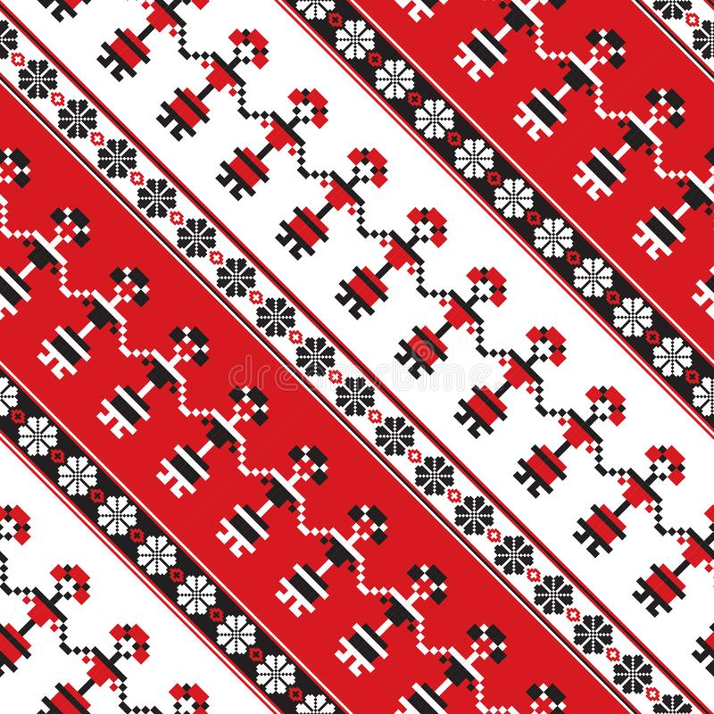 Seamless traditional romanian pattern stock illustration
