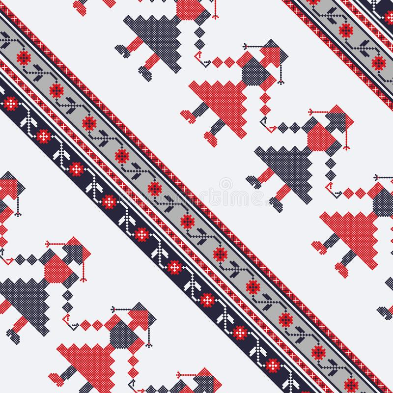 Seamless traditional romanian pattern vector illustration