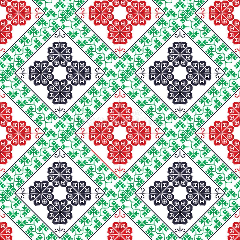Seamless traditional romanian pattern royalty free illustration