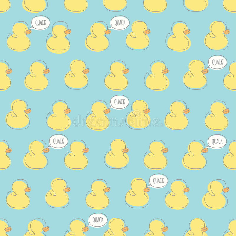 Seamless Vector Pattern With Yellow Baby Ducks. Stock ... Yellow Baby Shower Background