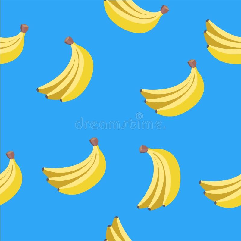 Seamless vector pattern of yellow bananas vector illustration