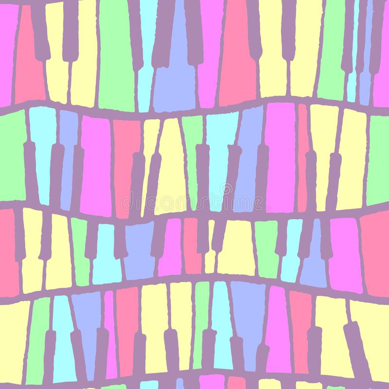Seamless vector piano pattern in pastel tones vector illustration