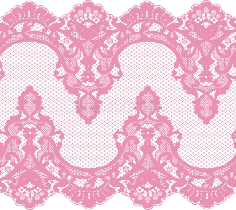 Seamless Vector Pink Lace royalty free illustration