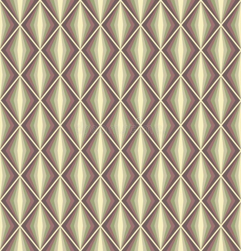 Seamless vector retro harlequin background stock illustration