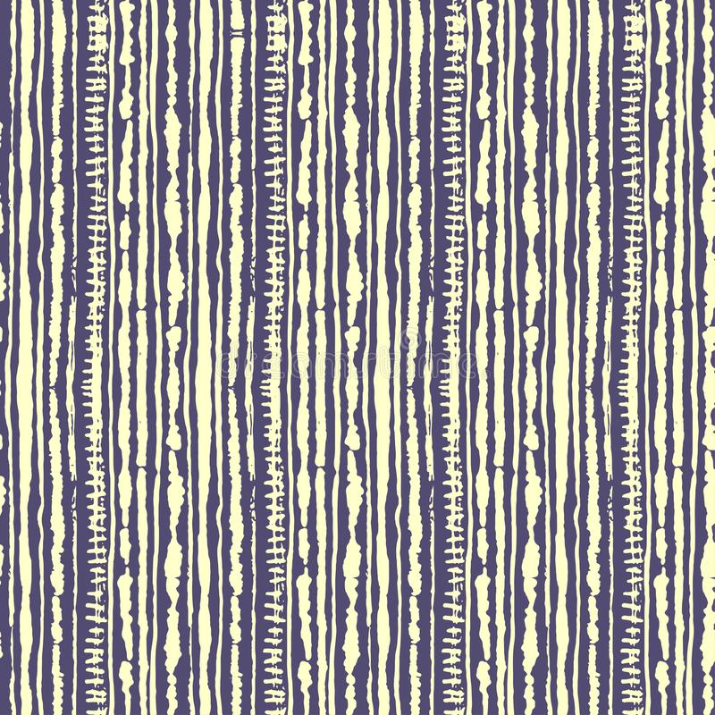 Seamless vector shibori tie-dye pattern of yellow color on lilac. Hand painting fabrics - nodular batik. Shibori dyeing for fabric, textile, ceramic vector illustration