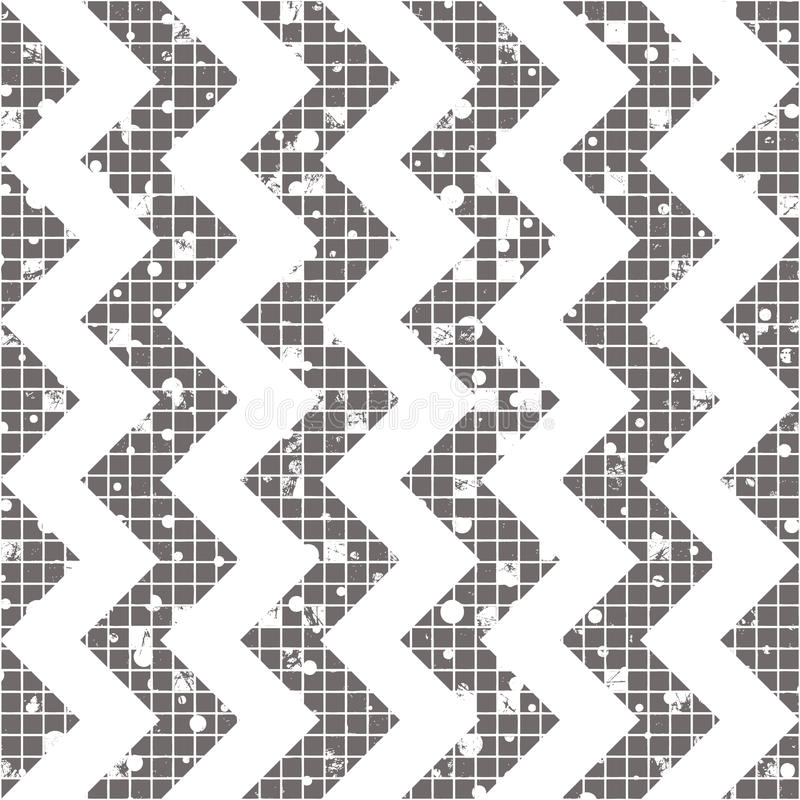 Seamless vector striped pattern. geometric background with zigzag. Grunge texture with attrition, cracks and ambrosia. Old style v vector illustration