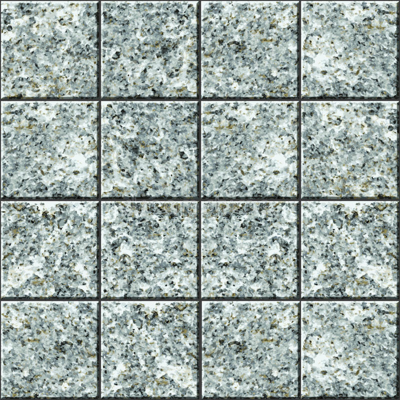 Seamless vector texture - granite tile flooring royalty free illustration