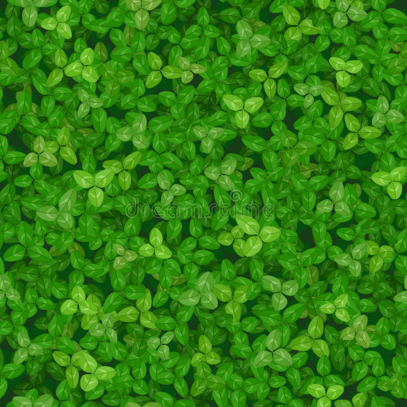Seamless vector texture of a lawn covered with clover vector illustration