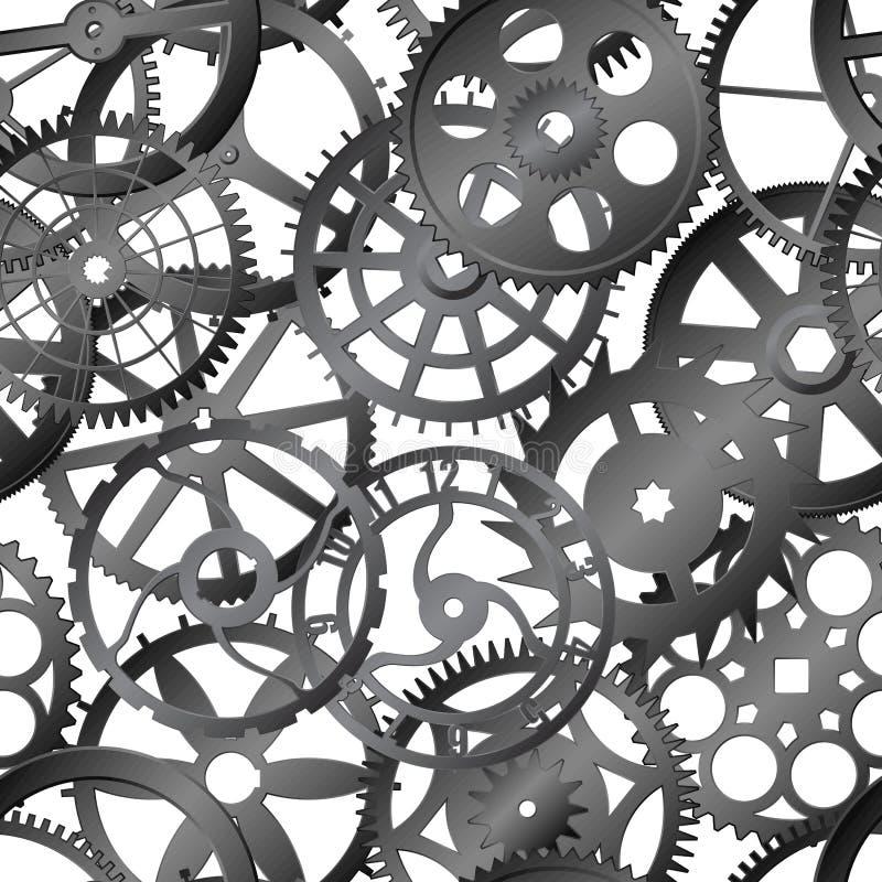 Seamless vector texture - watch gears