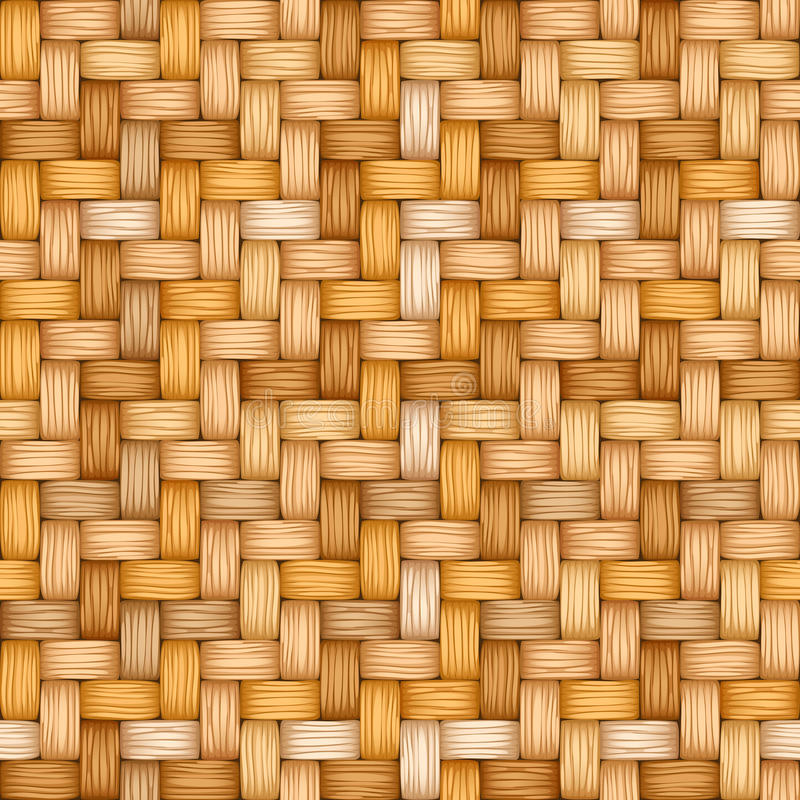 Seamless vector texture of weaving of motley straw royalty free illustration