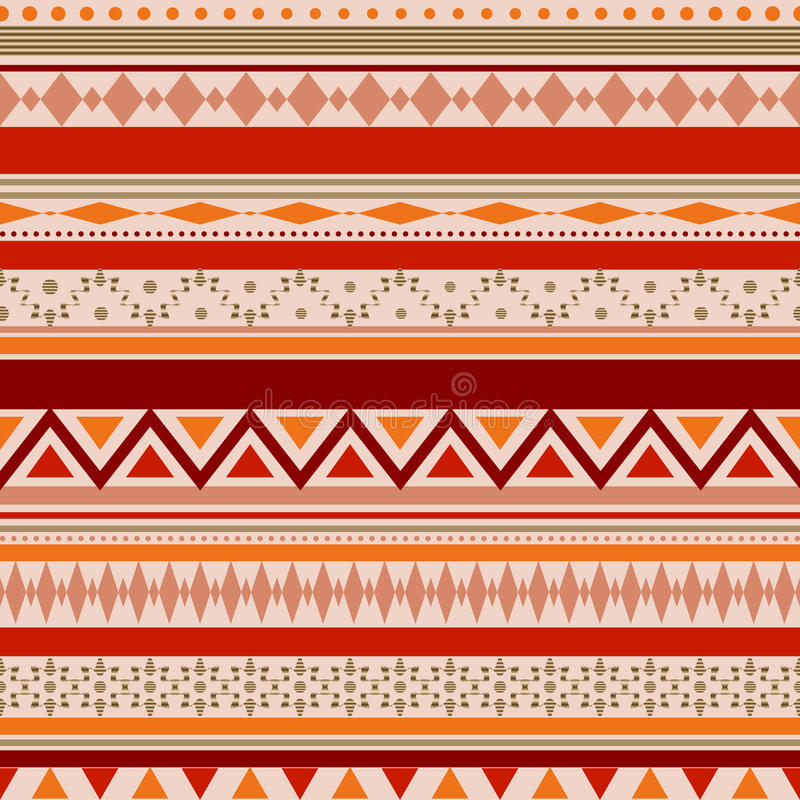 Seamless vector tribal texture pattern stock image