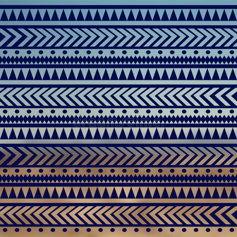 Seamless vector tribal texture. Tribal vector pattern. Colorful ethnic striped pattern. Geometric borders. Traditional ornament. H stock illustration