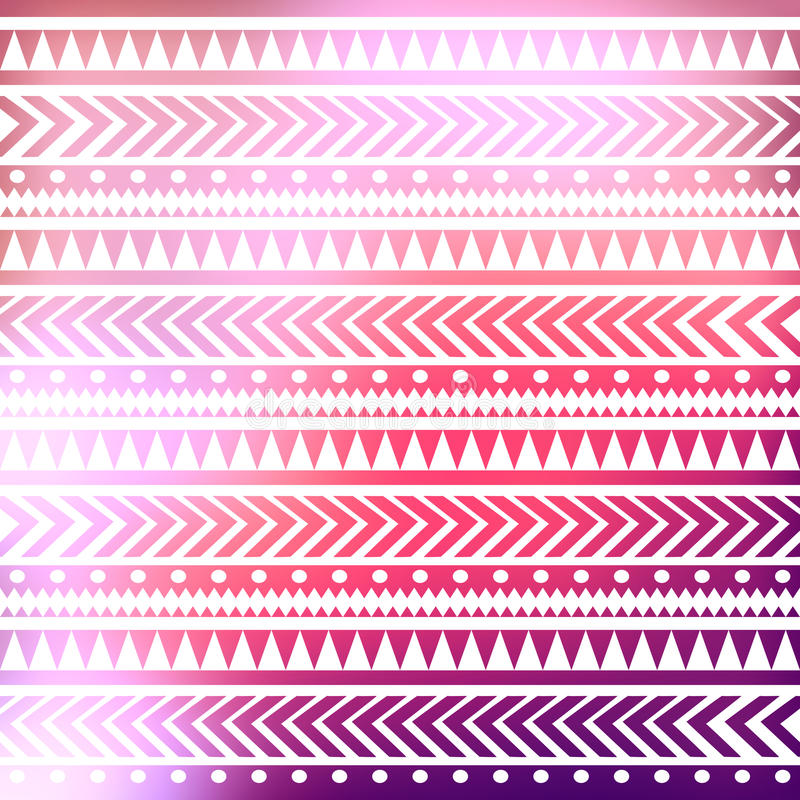Seamless vector tribal texture. Tribal vector pattern. Ethnic te royalty free illustration