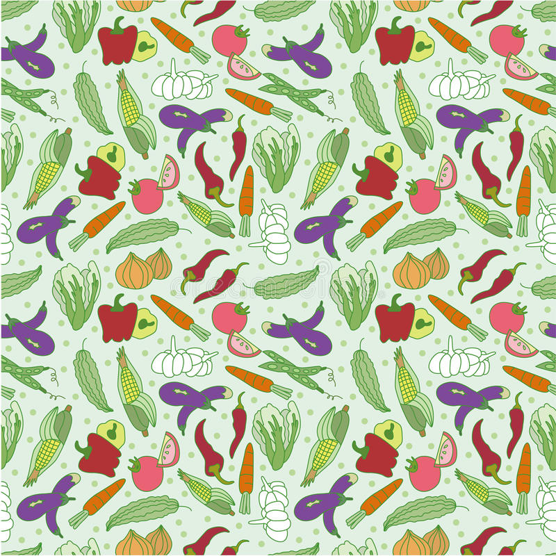 Download Seamless vegetable pattern stock vector. Image of background - 17260420