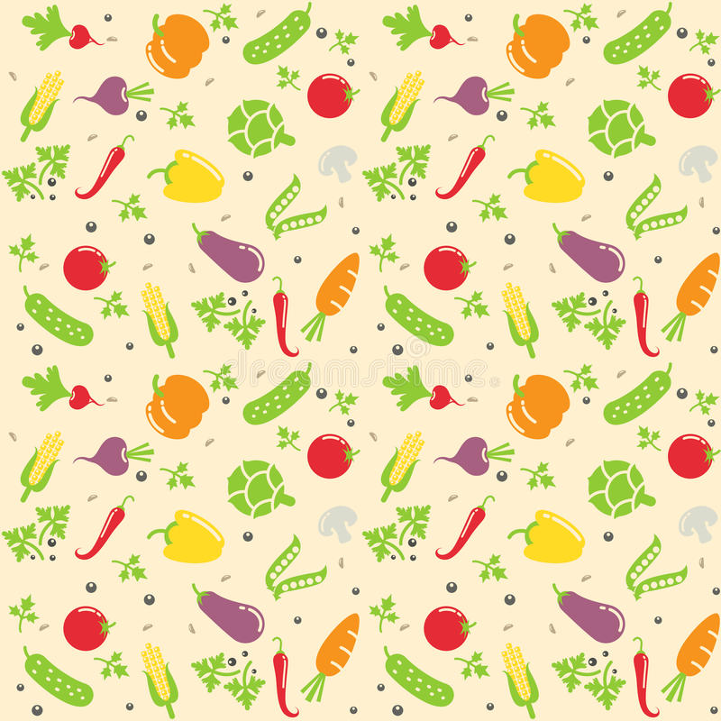 Seamless vegetable texture. Vector illustration royalty free illustration