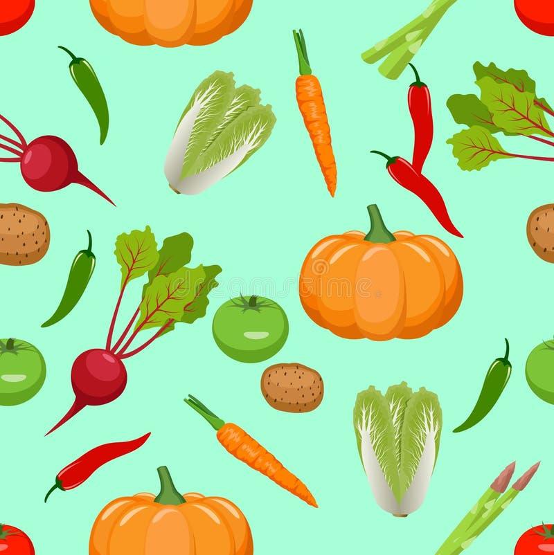 Seamless vegetables pattern. Vector illustration vector illustration