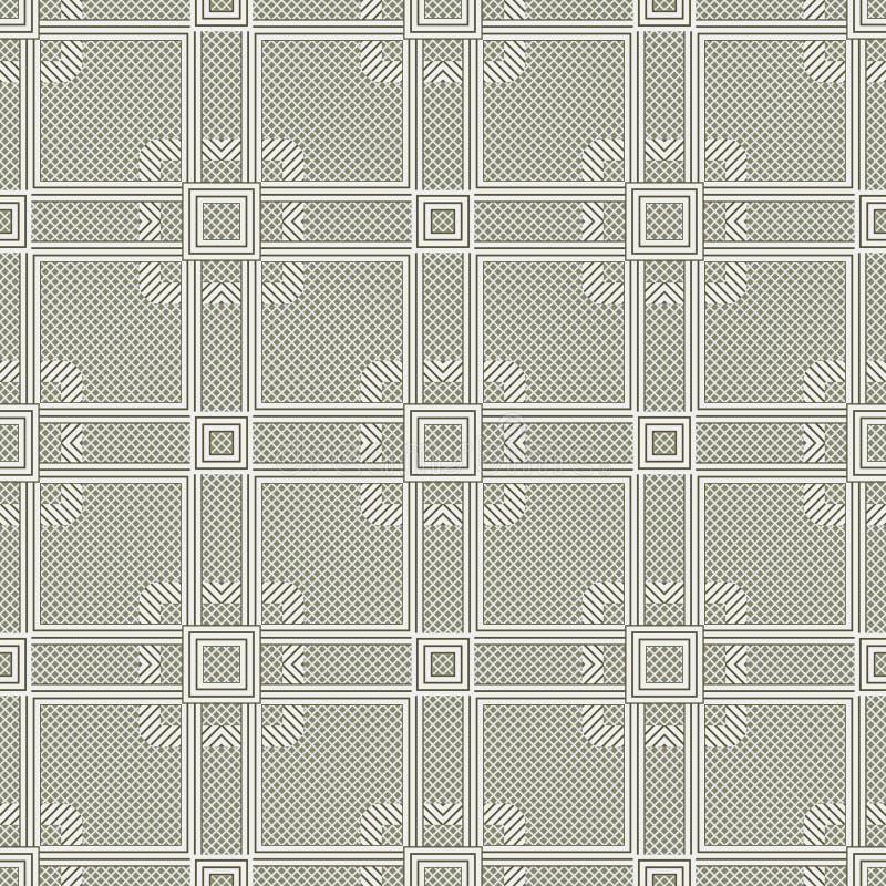 seamless vektor för abstrakt bakgrundsillustrationmodell Upprepa geometrisk textur stock illustrationer