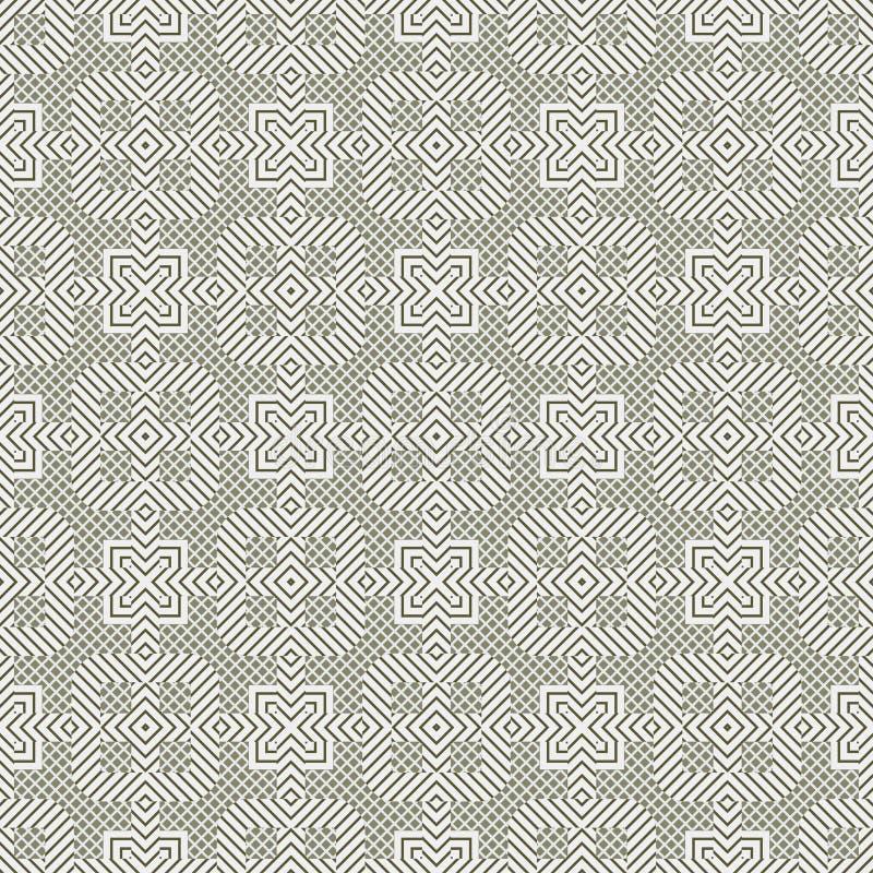 seamless vektor för abstrakt bakgrundsillustrationmodell Upprepa geometrisk textur vektor illustrationer