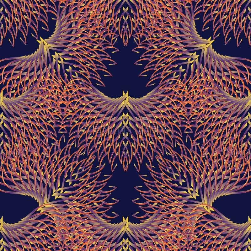 seamless vektor för abstrakt blom- modell Färgrik modern backgro stock illustrationer