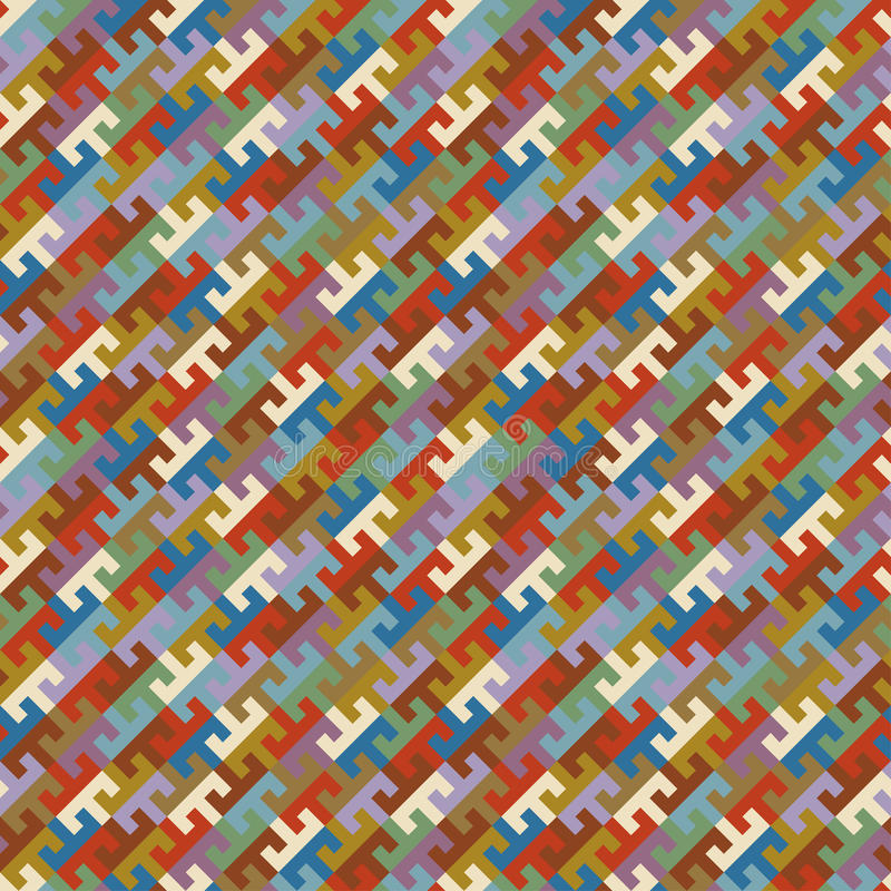 seamless vektor för abstrakt färgrik etnisk geometrisk illustrationmodell royaltyfri illustrationer