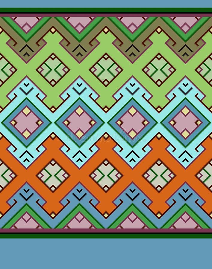 seamless vektor för abstrakt färgrik etnisk geometrisk illustrationmodell vektor illustrationer
