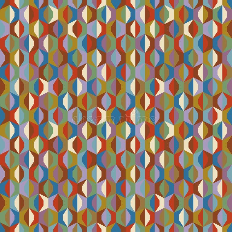 seamless vektor för abstrakt färgrik etnisk geometrisk illustrationmodell också vektor för coreldrawillustration stock illustrationer