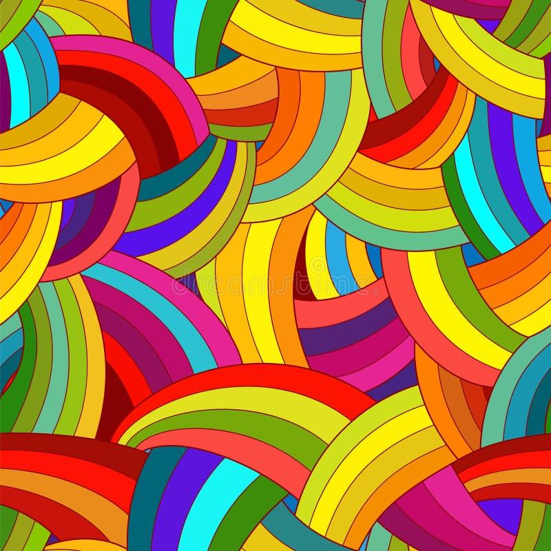 seamless vektor för abstrakt modell färgrik bakgrund stock illustrationer
