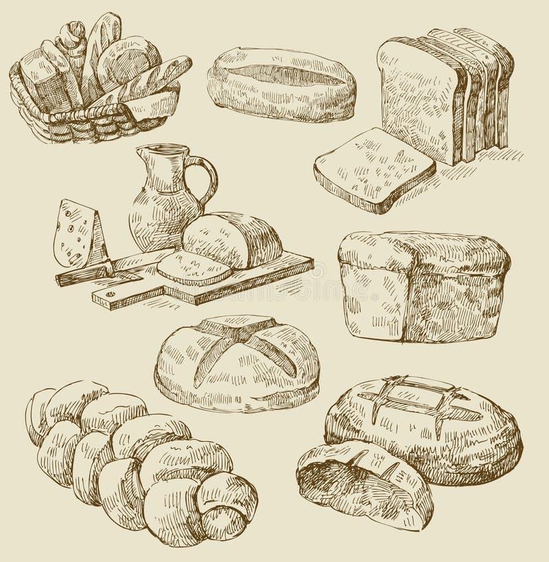 seamless vektor för bageri royaltyfri illustrationer