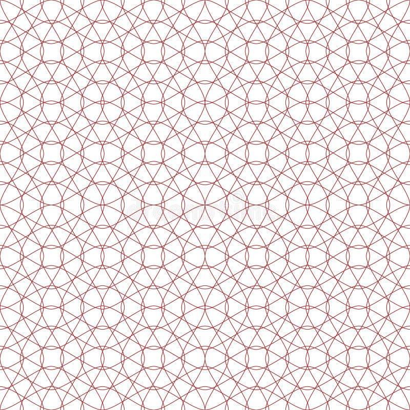 Download Seamless Vektor För Bakgrundsguilloche Vektor Illustrationer - Illustration av garnering, raster: 19779152