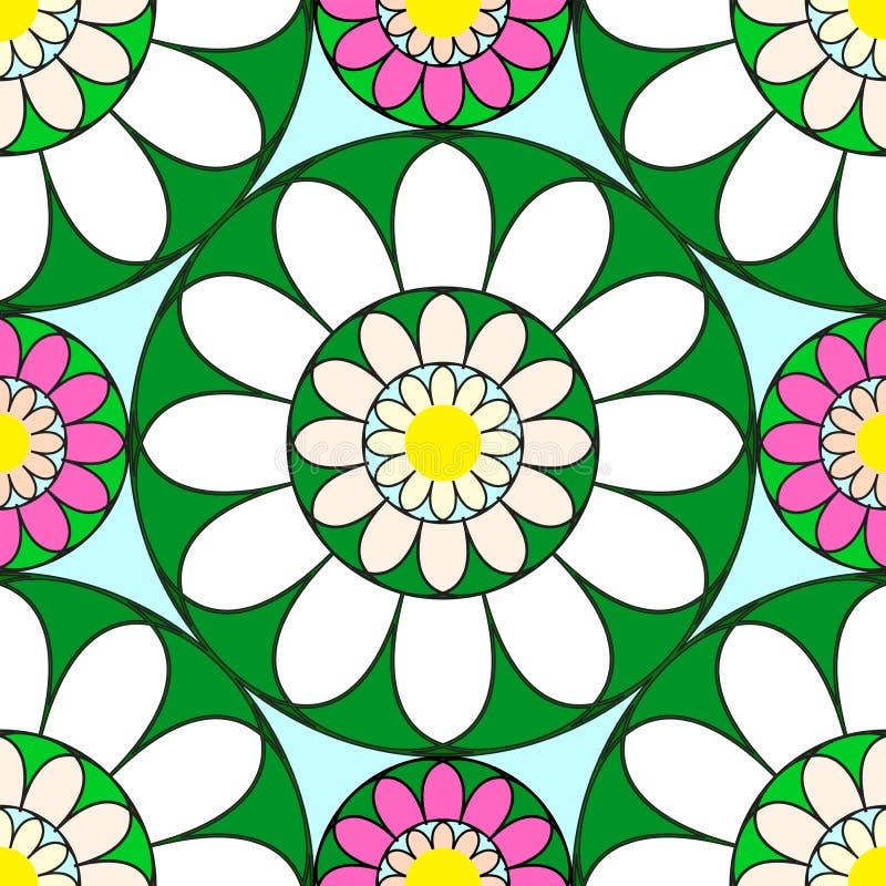 seamless vektor för blom- modell royaltyfri illustrationer