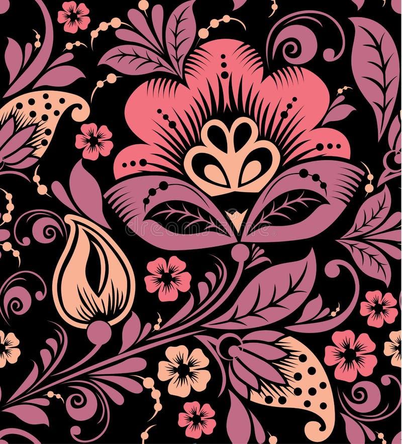 Download Seamless Vektor För Blom- Modell Vektor Illustrationer - Illustration av idérikt, krullning: 78725781
