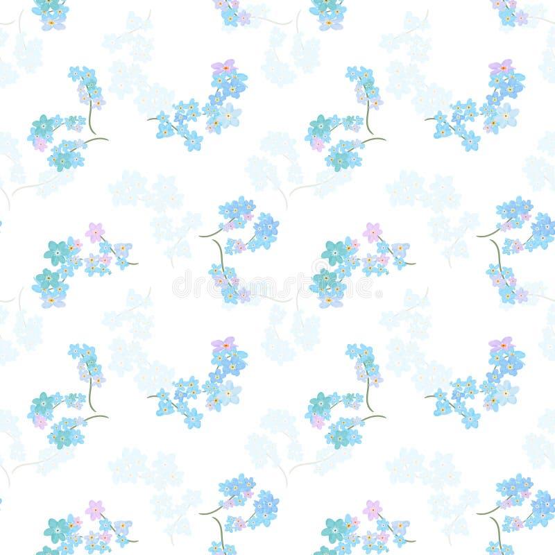 seamless vektor för blom- modell Illustration av blommor vektor illustrationer