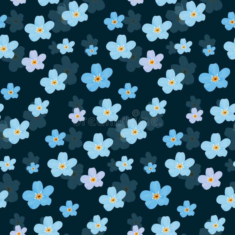 seamless vektor för blom- modell Illustration av blommor royaltyfri illustrationer