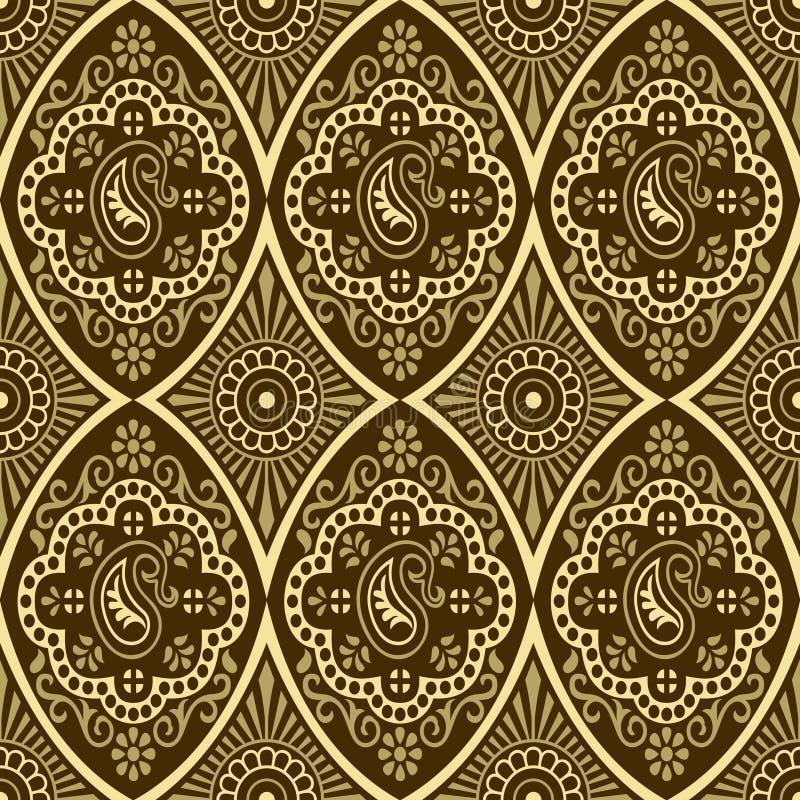 seamless vektor för damastast blom- illustrationmodell royaltyfri illustrationer