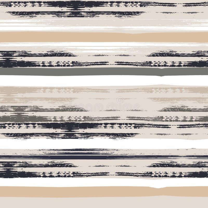 seamless vektor för geometrisk modell var den abstrakt borsten målad verklig slaglängdtextur till spårat Hand dragen grungetextur royaltyfri illustrationer